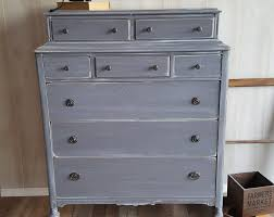 gray and white furniture. PICK UP ONLY Vintage Shabby Chic Tall Dresser, Chest, Gray White Wash,  Bureau And Furniture