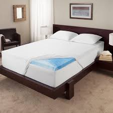 memory foam bed topper. Touch Of Comfort 3-inch Gel Memory Foam Mattress Topper Memory Foam Bed Topper