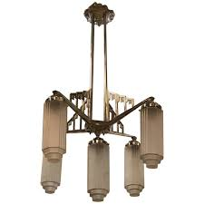 art deco chandelier throughout french with skyser motif modernism design 19