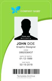 Photo Id Template Free Download Vertical Id Card Template Psd Free Download Design Btcromania Info