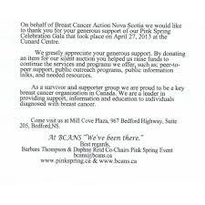 community darrell s restaurant breast cancer action ns appreciation letter