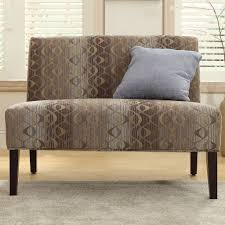 Appealing Oval Chain Armless Loveseat By Inspire-q