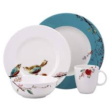 dining plates set. dinner plates birds dining set