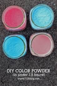 fast diy color powder recipe for neighborhood color runs and color wars