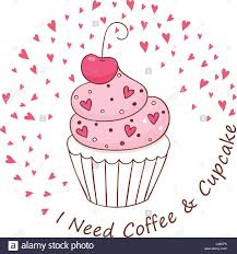 Cup Cake And Text I Need Coffee Cupcake Design For Menu Banner