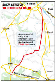 The expressway will cover major cities and districts namely delhi, gurgaon, mewat, kota, ratlam, godhra, vadodara, surat, dahisar and mumbai. Work Awarded For New Delhi Mumbai E Way Link Delhi News Times Of India