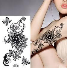 король лошадь коричневый черный хна цветы татуировки красоты татуировки