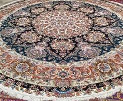 masterpiece khatibi 13x13 round 60 raj silk base tabriz silk persian rug
