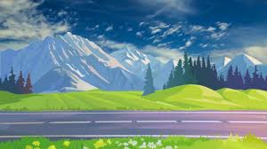 Beautiful 3d Animation With Nature Scenery 3d Background