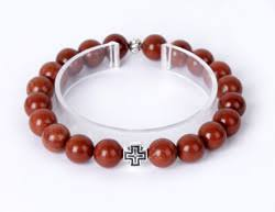 Четки-<b>браслет</b> из <b>яшмы красной</b>. <b>20</b> зерен, диаметр бусин 10 мм ...