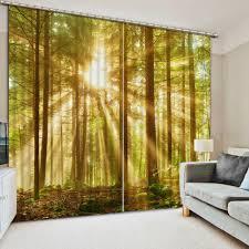 Promo 3d Vorhänge Wald Europäischen Stil Schlafzimmer Blackout