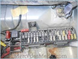 e class 1996 2002 w210 fuse box chart location designation fuse box under rear seat mercedes benz e320 e430 e55 w210 fuse box location