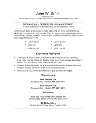 resume templates for word 7 free resume templates