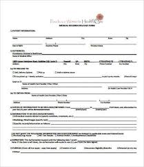 Sample Medical Records Release Form Medical Record Templates Magdalene Project Org