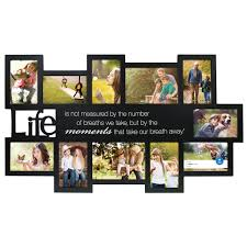 mainstays 6 x 20 black sentiments 11 openings collage frame com