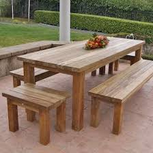 wooden outdoor table plans. Simple Outdoor Wood Furniture Plans Surprising Wooden Garden With Table Design 0 7