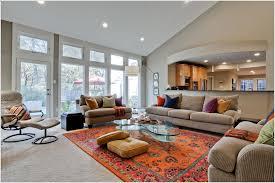 orange living room rugs