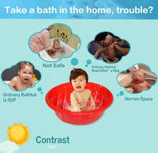 new baby inflatable bathtub swimming float safety bath tub swimming float kids infant portable folding bathtub