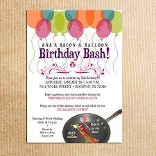 Balloon Birthday Invitations Balloon Themed Birthday Party Invitations Barca Fontanacountryinn Com