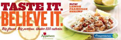 Applebee S Calories Chart Weightwatchers Com Marketplace From Weight Watchers