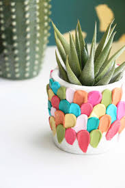 this clay planter just screams happy and it s incredibly easy to make the hardest part is deciding which colors to use