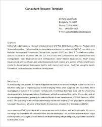 Consultant Resume Example Stunning 48 Consultant Resume Templates DOC PDF Free Premium Templates
