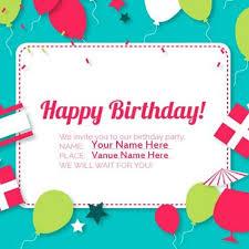 create party invitation happy birthday invitation card with name invitation ideas happy