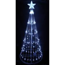 White Lighted Christmas Trees Outdoors Northlight 9 Pure White Led Lighted Show Cone Christmas