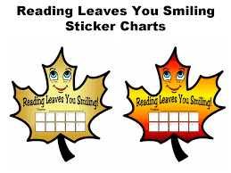 Reading Sticker Chart Reading Leaves You Smiling Sticker Chart Set