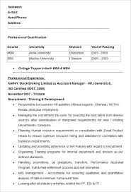 Interesting Hr Resumes Good Looking Hr Resume Format Sample Cv