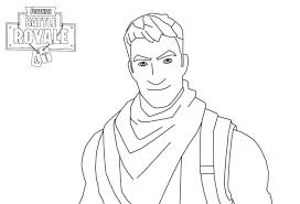 Fortnite Coloring Pages Man In Battle Royale Page Free Pixels1stcom