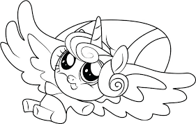 My Little Ponies Coloring Pages Princess And Unicorn Coloring Pages