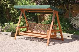 quality wooden 3 seater garden swing bed hammock swing seat with adjule back rest to