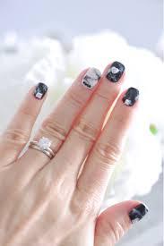 冬は簡単黒大理石ネイル Marriage Life In Arizona アリゾナで国際結婚