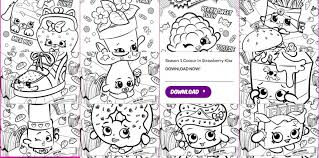 Shopkins Coloring Pages For Free Printable Sleekadscom