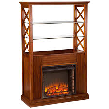 electric stone fireplace heater with mantel multicolor facade