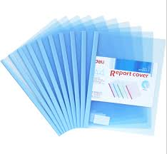 online get cheap paper report covers com alibaba group deli 10pcs lot a4 pumping rod clip transparent office papers cover presentation report folder