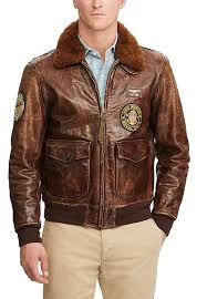 real polo ralph lauren leather jacket bison brown 100 leather mens clothing po222t00e o11