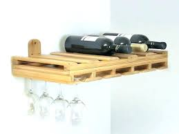 wall mount wine rack with glass holder wine racks hanging wine rack wine glass holder image