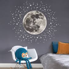 moon and stars fabric wall sticker gifts for children