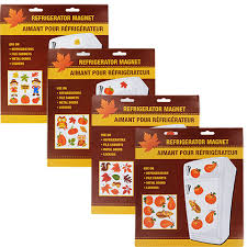 refrigerator magnets. + assorted fall-themed refrigerator magnets i