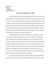 argumentative essays on same sex marriage same sex marriage argumentative essay