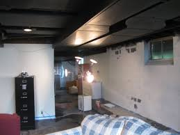 unfinished basement ceiling paint. Exellent Basement Dry Fall Paint Basement Ceiling Ideas Modern Design Throughout How To Black  Idea 12  With Unfinished H