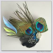 <b>Peacock Feather</b> Hairclips Rhinestone Hairpins Party Wedding Hair ...