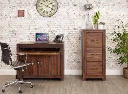 hidden office furniture. mayan walnut hidden home office desk furniture