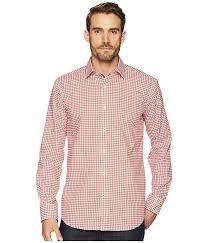 Bugatchi Shaped Fit Grid Print Woven Shirt 6pm