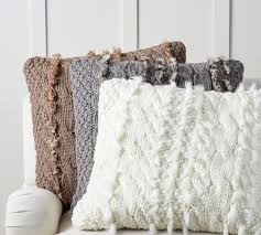White Cable Knit Pillow Cover