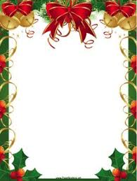 christmas present borders and frames. Unique And This Free Printable Christmas Border Features Festive Red Ribbons Golden  Bells And Winter Holly And Present Borders Frames A