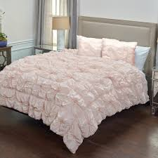 rizzy home pink solid rouching pattern 2 piece twin bed set cfsbt1392pi006886 the home depot