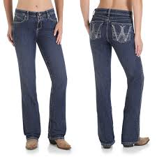Wrangler Q Baby Booty Up Jeans Mid Rise Bootcut For Women
